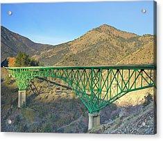 Pioneer Bridge Acrylic Print by Loree Johnson