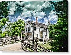 Pioneer Village Acrylic Print by Jana Smith