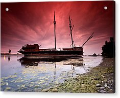 Pirate Ship Acrylic Print by Cale Best