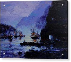 Pirate's Cove Acrylic Print by R W Goetting