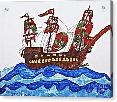 Pirate's Ship Acrylic Print by Stephanie Ward