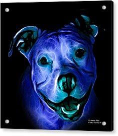 Pitbull Terrier - F - S - Bb - Blue Acrylic Print