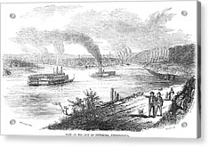 Pittsburgh, 1853 Acrylic Print by Granger