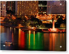 Acrylic Print featuring the photograph Pittsburgh At Night by Michelle Joseph-Long