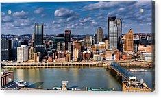 Pittsburgh Acrylic Print by David Hahn