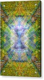 Pivortexspheres Lt On Chalicell Garden Tapestry Iv Acrylic Print