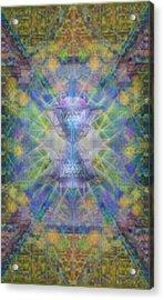 Pivortexspheres On Chalicell Garden Tapestry Ivb Acrylic Print
