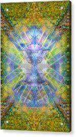 Pivortexspheres On Chalicell Garden Tapestry V Acrylic Print