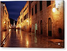 Placa At Twilight, Dubrovnik, Croatia Acrylic Print by Lonely Planet