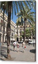 Placa Reial Barcelona Spain Acrylic Print by Matthias Hauser