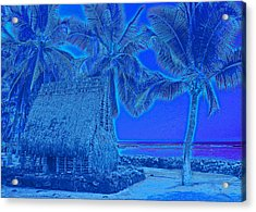 Acrylic Print featuring the digital art Place Of Refuge In Blue by Kerri Ligatich
