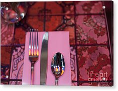 Place Setting Acrylic Print by Sam Bloomberg-rissman