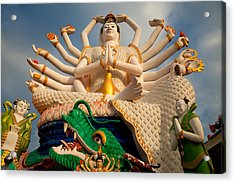 Plai Laem Buddha Acrylic Print by Adrian Evans