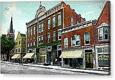 Plainfield Theatre In Plainfield N J 1907 Acrylic Print by Dwight Goss