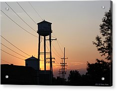Acrylic Print featuring the photograph Plainwell Paper Sunset by Penny Hunt