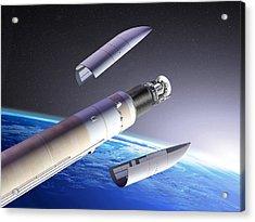 Planck And Herschel Launch, Artwork Acrylic Print by David Ducros