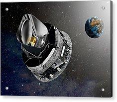 Planck Space Observatory, Artwork Acrylic Print by David Ducros