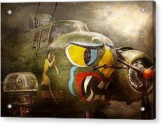 Plane - Pilot - Airforce - Dog Daize Acrylic Print by Mike Savad