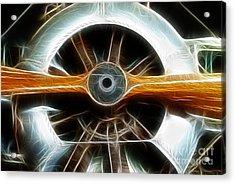 Plane Wood And Chrome Acrylic Print by Paul Ward