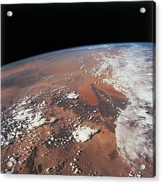 Planet Earth Viewed From Space Acrylic Print by Stockbyte