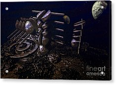 Planet Explorerstation Acrylic Print by Jan Willem Van Swigchem