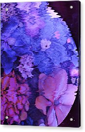 Planet Of Flowers Acrylic Print by Anne-Elizabeth Whiteway