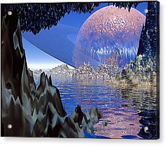 Planet Rising Acrylic Print