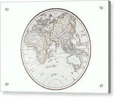 Planispheric Map Of The Eastern Hemisphere Acrylic Print by Fototeca Storica Nazionale