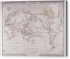 Planispheric Map Of The World Acrylic Print by Fototeca Storica Nazionale