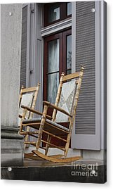 Plantation Rocking Chairs Acrylic Print by Carol Groenen