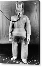 Plastic Protective Outfit Filled Acrylic Print by Everett