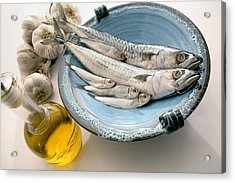 Plate Of Mackerel Acrylic Print
