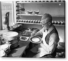Plate Painter Acrylic Print by L Blandford