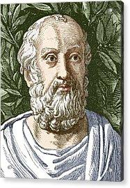 Plato, Ancient Greek Philosopher Acrylic Print by Sheila Terry