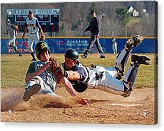 Play At The Plate Acrylic Print by Wade Aiken