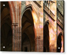Play Of Light And Shadow - Saint Vitus' Cathedral Prague Castle Acrylic Print by Christine Till