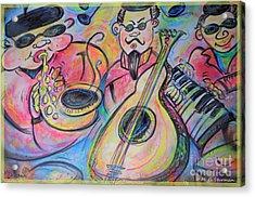 Play The Blues Acrylic Print by M C Sturman