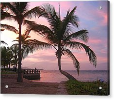 Playa Dorada Sunset 0681 Acrylic Print