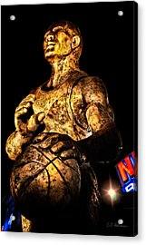 Player In Bronze Acrylic Print by Christopher Holmes