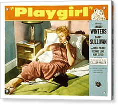 Playgirl, Shelley Winters, 1954 Acrylic Print by Everett