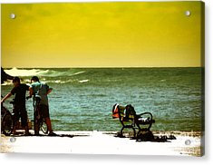 Playing At Beach Acrylic Print by Nilay Tailor