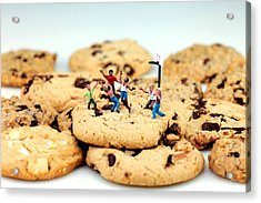 Playing Basketball On Cookies Acrylic Print by Paul Ge