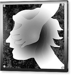 Playing Blindfold Acrylic Print by Asok Mukhopadhyay