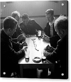 Playing Dominoes Acrylic Print by John Drysdale