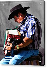 Playing For Taos Acrylic Print by Terry Fiala