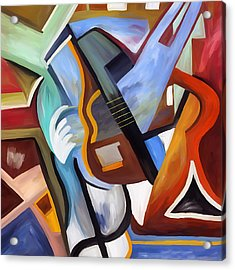 Playing Guitar Acrylic Print by Amarok A