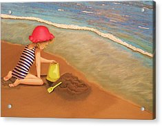 Playing On The Beach Acrylic Print