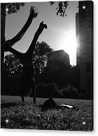 Playing With The Sun II - Philadelphia - Pensilvania - Sunset Acrylic Print by Lee Dos Santos