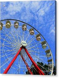 Playland Ferris Wheel Acrylic Print by Maria Scarfone