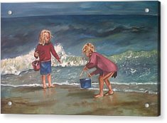 Playtime At The Beach Acrylic Print by Elani Van der Merwe